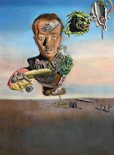 Salvador Dalí (1904-1989), Portrait de Paul Éluard, 1929 *** Happy 110th Birthday, Salvador Dalí (11 May, 1904)! ***