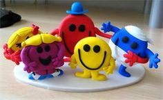 Mr Men & Little Misses Birthday cake toppers...awesome sauce :)