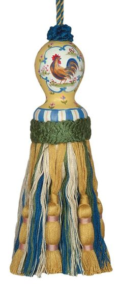 123 Creations C427.8 Inch Country Rooster - Yellow Hand Painted Tassel