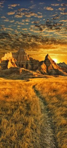Medicine Root Trailhead in Badlands National Park, South Dakota by Dan Anderson