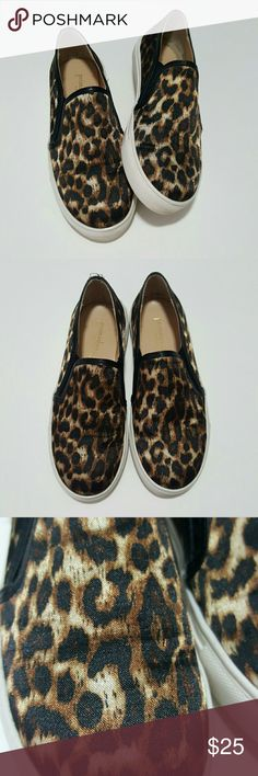 Leopard Slip on Sneakers Worn once! Like new. Satin like material. Size 36, but fit like 6.5, which is my shoe size and they fit perfect. Prima Donna Shoes