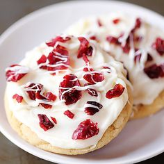 Cranberry Bliss Cookies. Oh my goodness!