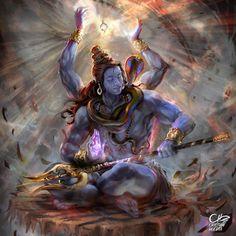 Arte Shiva, Shiva Tandav, Shiva Parvati Images, Shiva Art, Hindu Art, Rudra Shiva, Lord Shiva Pics, Lord Shiva Hd Images, Lord Shiva Family