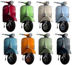 Colour on the Roads - Classic Vespa Vespa 50, Vespa Girl, Vespa Motor Scooters, Scooter Bike, Piaggio Vespa, Lambretta Scooter, Triumph Motorcycles, Vespa Super 150, Fiat 500