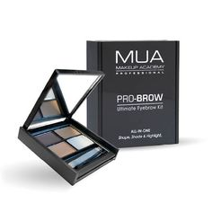 Create brows that are fuller, thicker and more defined with 3 shades + a fixing gel. Types Of Makeup, Basic Makeup, Mua Makeup Academy, Professional Makeup Kit, Make Me Up, How To Make, Eyebrow Kits, Winter Makeup, Makeup Techniques