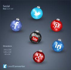 Lovely & Free Christmas Icons from LeadConverter #socialmedia #social #webdesign