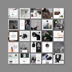 Stylish Social Media Pack on Behance Social Media Branding, Social Media Banner, Social Media Template, Social Media Design, Web Design, Grid Design, Instagram Grid, Instagram Design, Speisenkarten Designs