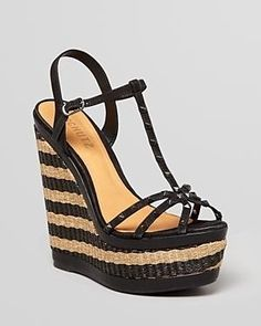Schutz peep toe #wedge #heels #shoes