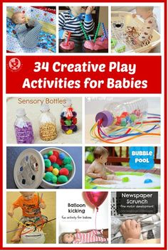 It's not just older kids who can benefit from creative play activities! They can also help babies develop all senses and their fine and gross motor skills.