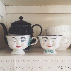 vintage Bailey's tea cups