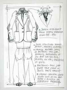 Maison Martin Margiela - A/W 1989 - Explanatory sketch for an outfit