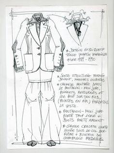 Maison Martin Margiela - A/W 1989 - Explanatory sketch for an outfit