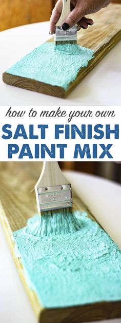 SALT PAINT RECIPE – How to make your own sea & sun washed paint. I can't believe… Sponsored Sponsored SALT PAINT RECIPE – How to make your own sea & sun washed paint. I can't believe how adorable this sign… Continue Reading → Diy Projects To Try, Craft Projects, Craft Ideas, Chalk Paint Projects, Decor Ideas, Project Ideas, Wood Crafts, Diy And Crafts, Felt Crafts