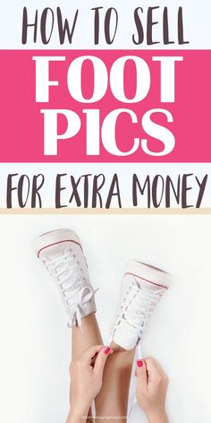In this post I will share with you ways to make extra money by simply taking foot pics. Need ways to make extra money? Then try this money making hack. Head on over to the blog for details on your options and save it to your board so you can easily refer to it later. Ways to make extra money | Making Money From Home | Money Making Hacks | Work From Home Jobs Ways To Save Money, Money Saving Tips, How To Make Money, Work From Home Jobs, Make Money From Home, Foot Pics, Frugal Living Tips, Extra Money, Simple Way