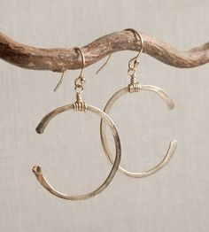 Crescent Gold Earrings by MADE by Ashley Rush on Scoutmob Shoppe Metal Jewelry, Gold Jewelry, Jewelry Box, Jewelery, Jewelry Watches, Jewelry Accessories, Fashion Accessories, Jewelry Design, Fashion Jewelry