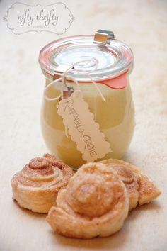 {homemade raffaello spread} I love coconut and this looks like a really cute gift idea!
