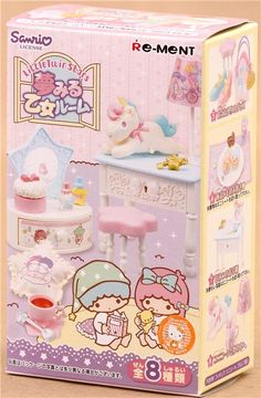 cute highly detailed doll house furniture Sanrio set from Re-Ment in Japan
