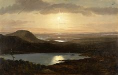 Frederic Edwin Church, Eagle Lake Viewed from Cadillac Mountain, Mount Desert Island, Maine1850–60  on ArtStack #frederic-edwin-church #art