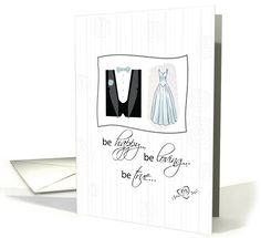 Wedding Congratulations To Daughter Husband Bridal Gown Tuxedo Card Personalize Any Greeting For No Additional Cost