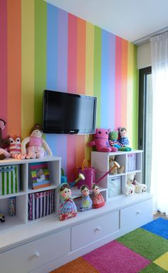 Recamara Infantil: Habitaciones infantiles de estilo por VICTORIA PLASENCIA INTERIORISMO Toddler Playroom, Toddler Rooms, Creative Kids Rooms, Bedroom Wall Colors, Bedroom Layouts, Toy Rooms, Little Girl Rooms, Teen Bedroom, Playroom Storage