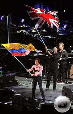 Paul McCArtney in Bogotá Colombia, Last night.
