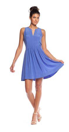 Rebecca Taylor Pintuck Dress in Aruba