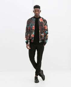 ZARA - MAN - FLOWER BOMBER JACKET