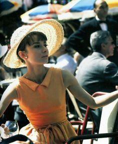 "Audrey Hepburn in ""Paris when it sizzles"""