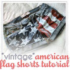 american flag shorts tutorial