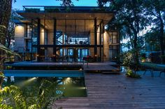 Image 2 of 43 from gallery of Himchori Residence / River & Rain. Photograph by Maruf Raihan Jungle House, Rain Photo, Interior Architecture, Interior Design, Media Images, House Goals, River, Vacation, Mansions