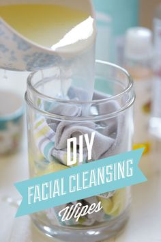 Super simple and affordable homemade reusable facial cleansing wipes. Only four ingredients and a set of wipes makes for easy cleansing and traveling.