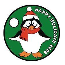 Pathtag #7588 - Christmas Penguin 2008