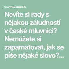 Nevíte si rady s nějakou záludností v české mluvnici? Nemůžete si zapamatovat, jak se píše nějaké slovo? V tomto článku si povíme několik informací o mnemotechnických pomůckách, která Vám mohou s tímto problémem pomoci.