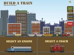 Recommended App of the Week - Build A Train -Compatible with iPhone, iPad, and iPod touch. Requires iOS 3.1.3 or later.  First, pick an engine to get your train started. Next, decide which different train cars you would like to add behind it . Once the train is ready, you can pick different locations in which to run it;  countryside, the dock yards, cities and mountain passes,even a desert island! .  Great interactive fun for train lovers!