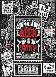 great kiwi beer festival poster
