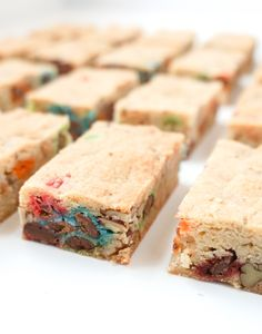 Blondies with Candies and Pecans