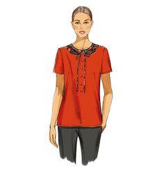 Butterick B5817 peter pan collar blouse