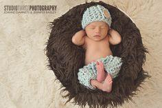 Glacier Blue Newborn Pants and Hat Set | Beautiful Photo Props