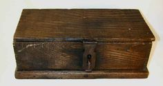"Antique Large Wooden Box ""Boys Union Tool Chest"" No. 60B Beautiful Original Paper Decal"