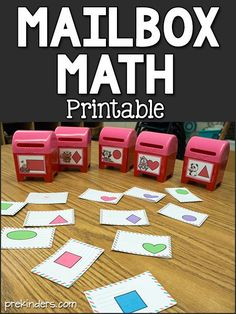 This free printable for Mailbox Math will entertain kids as they practice key learning skills for counting and shapes. Great for Valentine's Day activities. Art Activities For Toddlers, Lesson Plans For Toddlers, Preschool Lesson Plans, Preschool Activities, Preschool Shapes, Shape Activities, Speech Activities, Valentines Day Activities, Mailbox