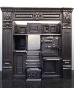 Fully Restored Original Victorian Antique Cast Iron Kitchen Cooking Range | eBay