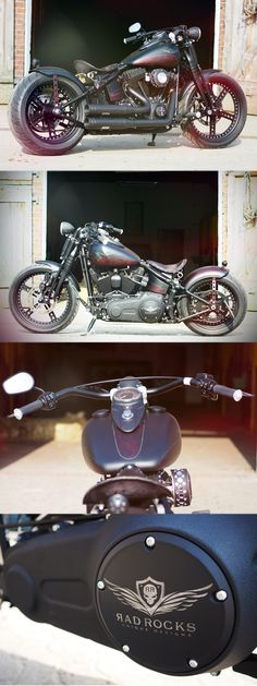 A promotion custom #motorcycle based on a #Harley-Davidson Softail Crossbones by Thunderbike Customs