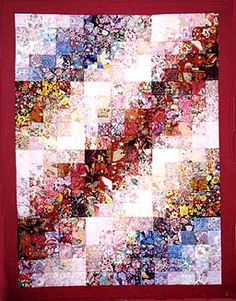 "Watercolor Quilt by Betty Kaiser - pretty! - I have completed a ""simple"" watercolor quilt piece like this (altho not quite as good) but I want to do one that is really a picture."