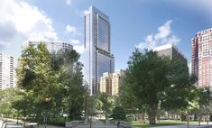 The new tower plans to top out at 51 floors, and feature a mixed of condos, apartments, retail and underground parking.