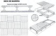 Resultado de imagem para MONTAGEM DE DECK Infographic, Projects To Try, Floor Plans, Diagram, Wood, Diy, Garden Ideas, Studio, Wooden Decks