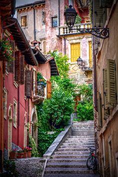 Beautiful Alley in Verona, Italy.