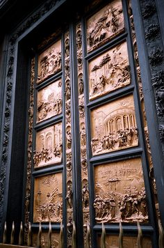 The Baptistry Doors by Lorenzo Ghilberti Florence .oh my amazing. & Lorenzo Ghiberti Bronze Doors of the Florence Baptistry ... Pezcame.Com