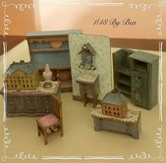 1/48 Chritsmas set dollshouse miniatures hand por LeMiniaturediBea