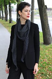 Half-brioche stitch asymmetrical shawl. #kuduja #fashion #accessories #shawl #knitting #minimal #minimalism #fashion #ravelry