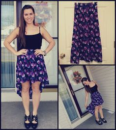 Makin' a Mess: Easy DIY: Low-to-High Skirt